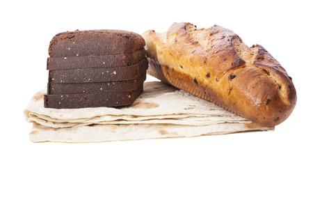 fresh bread isolated on white background  Stock Photo
