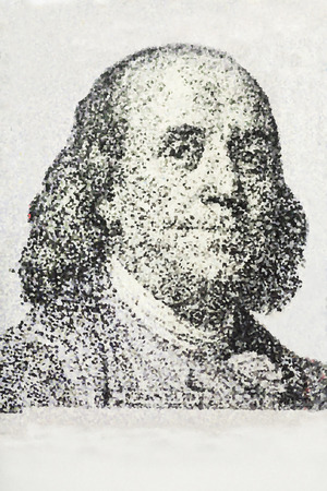 benjamin franklin: Close-up on Benjamin Franklin  Stock Photo