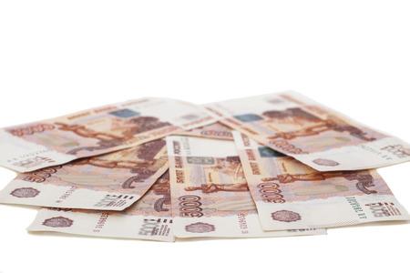 dignit�: L'argent des billets de banque russes dignit� cinq mille roubles Banque d'images