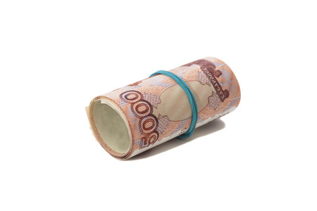 thousandth: Roll of Russian money with rubber band
