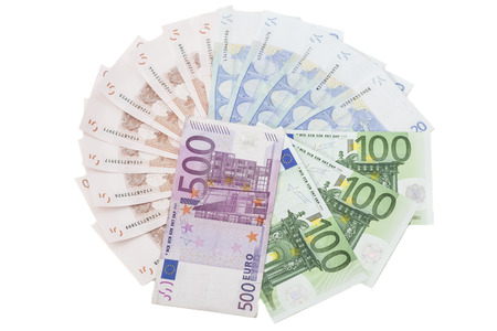 heap of different Euro banknotes  photo