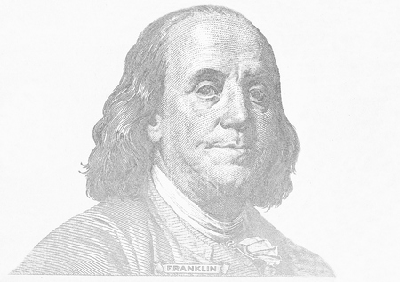 franklin: Close-up on Benjamin Franklin  Stock Photo