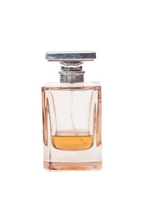 Glass Perfume Bottle isolated on white