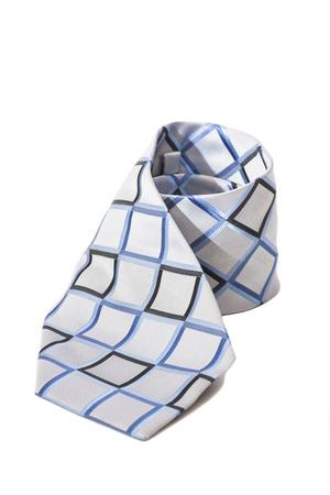 checkered necktie on  white background