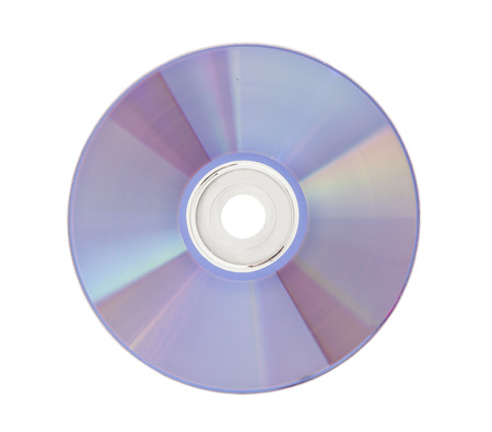 DVD Disk isolated on white  Stock Photo
