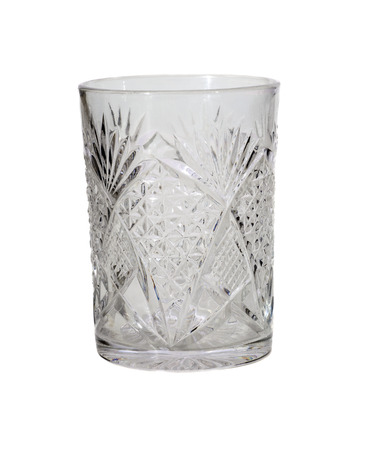 Water glass, isolated on white  Stock Photo