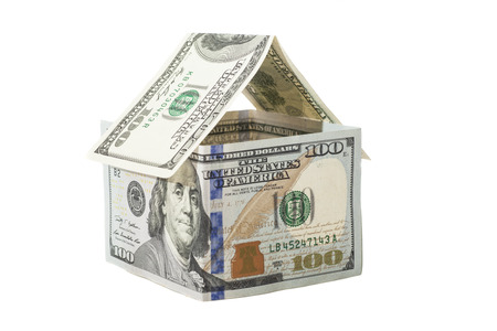 House of one hundred dollar bills  Reklamní fotografie