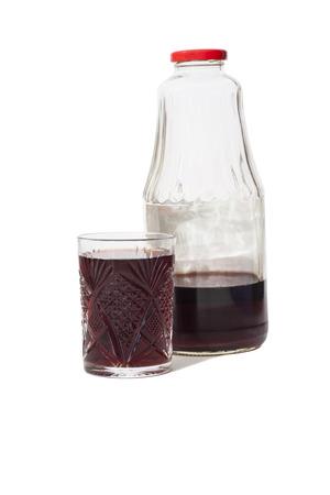 Pomegranate Juice On White Background Reklamní fotografie