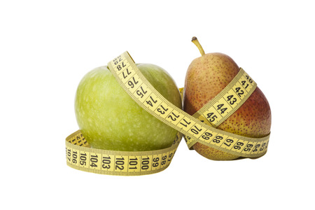 pear and apple, shape of the body