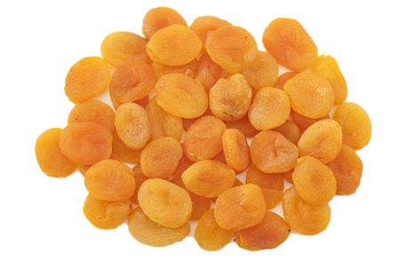 Dried apricots in white background