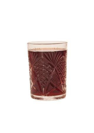 Glass Pomegranate Juice  On White Background