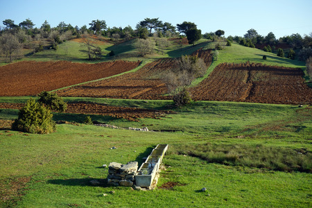 plowed: the source of drinking and plowed land