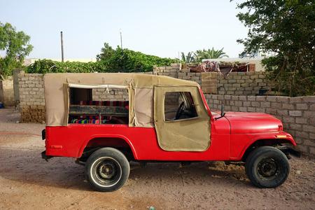 dahab: Red car near Assala Dahab Egypt