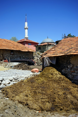 manure: Turkish mosque rustic barns and manure