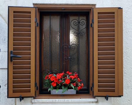 barred: beautiful barred window Stock Photo