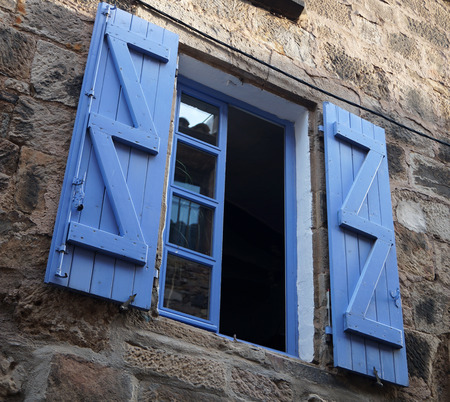 shutters: bright window with open shutters