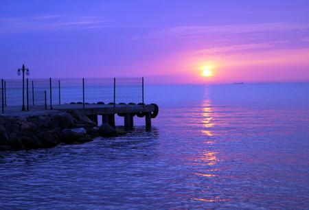 purple sunset: purple sunset Stock Photo