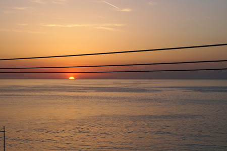 notation: wire at sunset as the musical notation