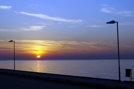 seafront: sunset on the seafront