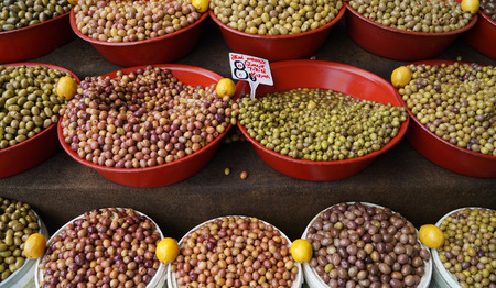 basins: olives in the basins on the market