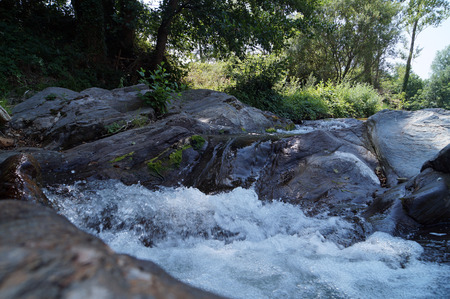 drinkable: river among the rocks