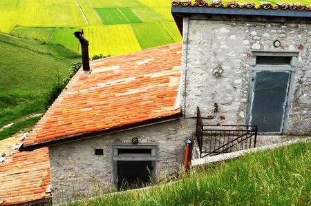 umbria: Castelluccio, Perugia, Umbria, Italy Stock Photo