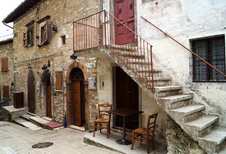 castelluccio: CASTELLUCCIO, ITALY - JUNE 14, 2015: street in Castelluccio Editorial