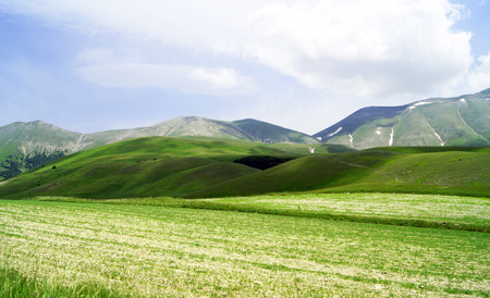umbria: Castelluccio, Perugia, Umbria, Italy Stock Photo