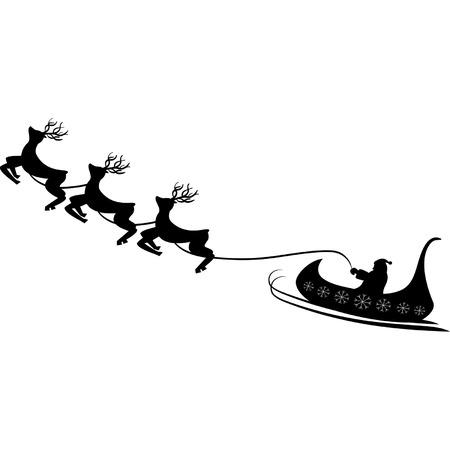 Santa contour Vector