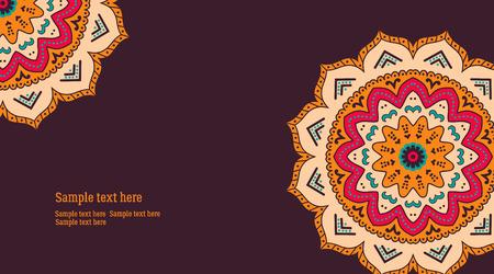busness: Decorative ornamental element, vintage, floral busness card