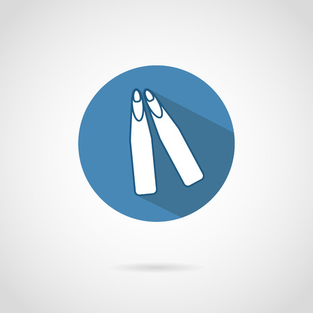 freediving: Freediving flippers icon with shadow