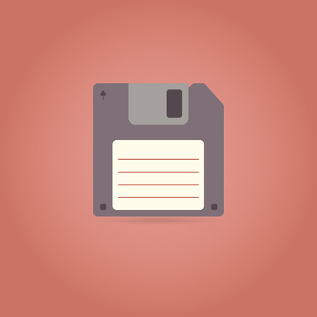 outdated: Floppy disk icon in retro style. Vector illustration. Illustration