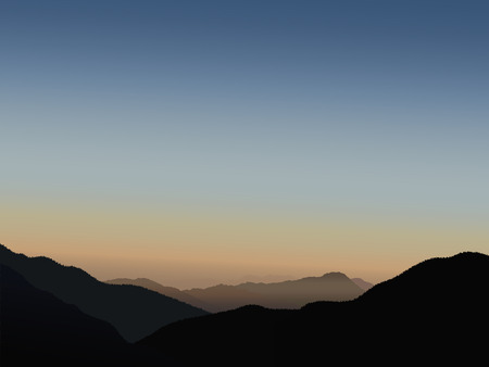 himalayas: Sunrise in Himalayas. Vector illustration.