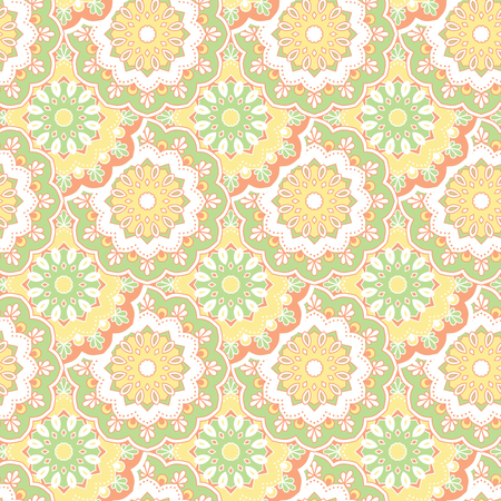 ottoman fabric: Seamless hand drawn mandala pattern. Vintage decorative elements. Islam, arabic, indian, turkish, ottoman motifs. For printing on fabric or paper. Vector illustration. Illustration