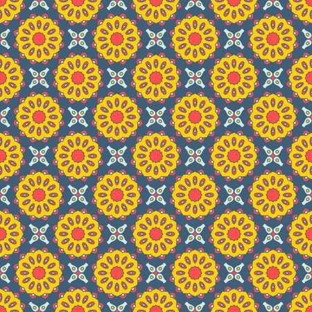 ottoman fabric: Seamless mandala pattern. Vintage elements in oriental style. Texture for wallpapers, backgrounds and page fill or printing on fabric or paper. Islam, arabic, indian, turkish,ottoman motifs. Vector.