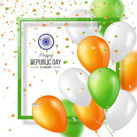 celebration: Happy Indian Republic day celebration background. Illustration