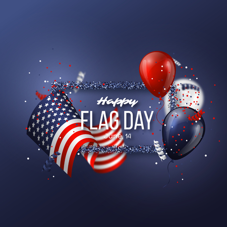 USA flag day background.