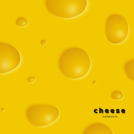 Cheese background with holes. Illustration