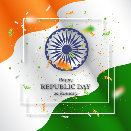 Indian republic day holiday background. 矢量图像