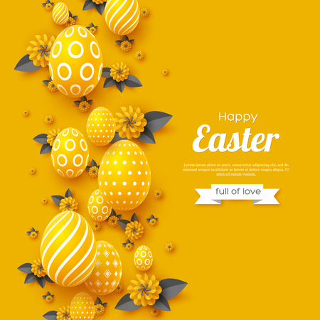 Easter holiday greeting card. Vectores