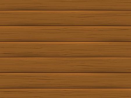 Holzstruktur, braune Planke. Hölzerner Hintergrund im Cartoon-Stil. Vektor-Illustration. Vektorgrafik