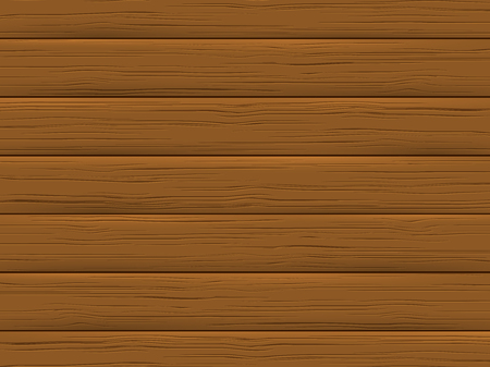 Wood texture, brown plank. Wooden background in cartoon style. Vector illustration.