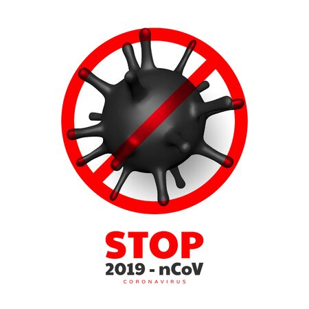 Stop coronavirus, virus strain of MERS-Cov and Novel coronavirus 2019-nCoV.