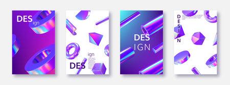 Set of card templates. 向量圖像