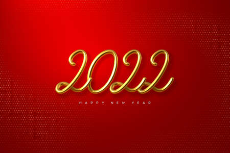 2022 Happy New Year. 向量圖像