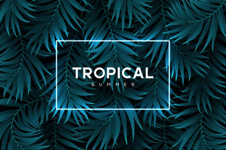 Exotic tropical background. Stock Illustratie