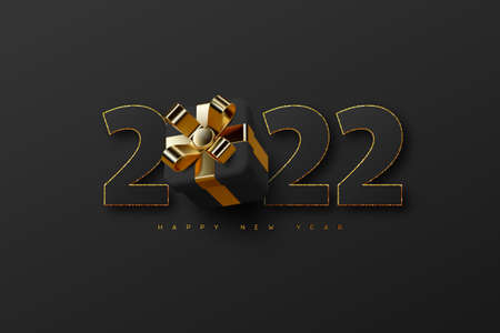 2022 New Year sign. 向量圖像