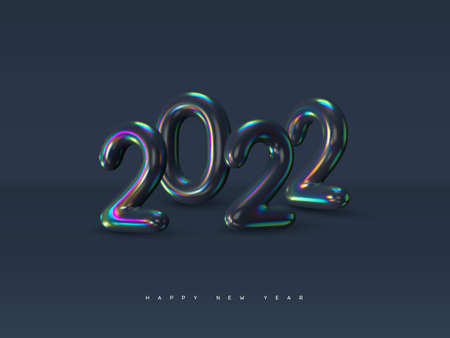 2022 New Year sign. Stock Illustratie