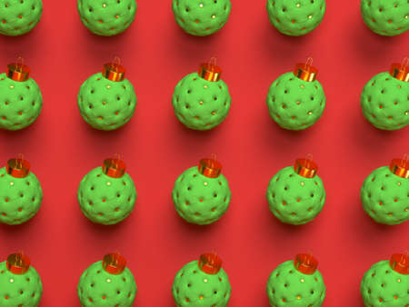 3d Christmas red background.