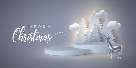 Christmas holiday banner.